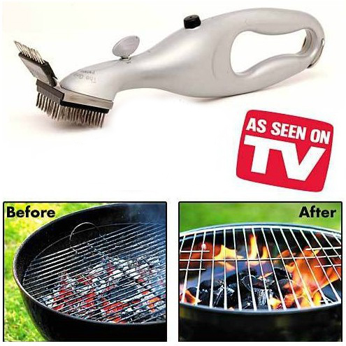 Grill Clean Brush , BBQ Stainless steel brush Clean Grill with power of steam Free Shipping(China (Mainland))