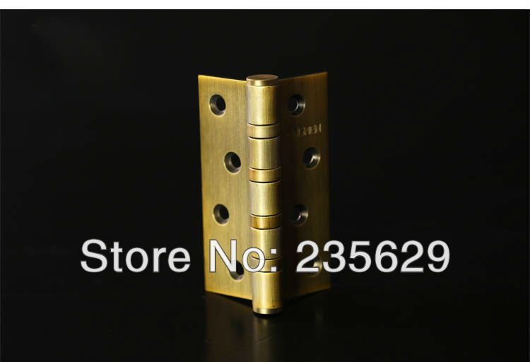 Free Shipping, Antique Brass Finished Hinges for timber door / Metal Door, Stainless Steel material, 4*3*3, Low Noise<br><br>Aliexpress