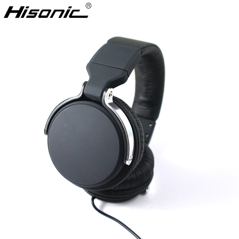Hisonic The New DJ Style Headband Wired Headset, Data Cable And metal Headphones Separable With Microphone For iPod casque audio(China (Mainland))