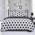 Black White Stripe plaid print Bedding Sets 2 3pcs Single Queen King Bedclothes Bed Linen Duvet
