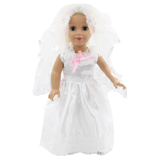 American Girl Doll Clothes Blue Princess Dress Doll Clothes for 18 inch Dolls Baby Doll Accessories D-1
