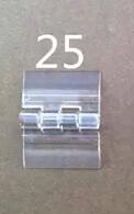 H25x33mm 20PCS Freeshipping Transparent acrylic hinge organic glass hinge plastic folding hinge(China (Mainland))