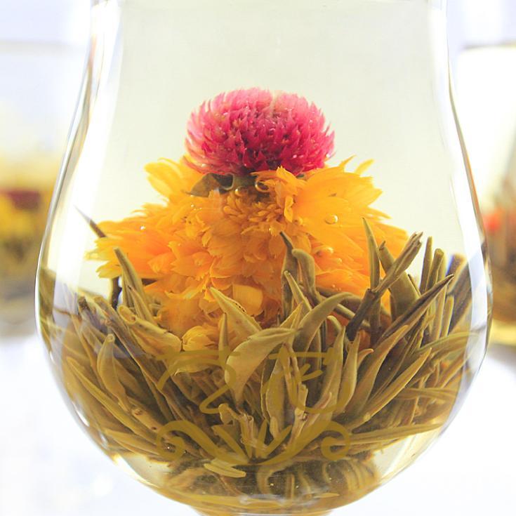 Jasmine Daisy Blooming Flower Tea Bag Chinese Ball Blooming Flower Herbal Tea Wholesale Free Shipping