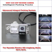 Buy Intelligent Parking Tracks Rear Camera Hyundai Avante AD 2015 2016 Backup Reverse / NTSC RCA AUX HD SONY CCD 580 TV Lines for $46.61 in AliExpress store