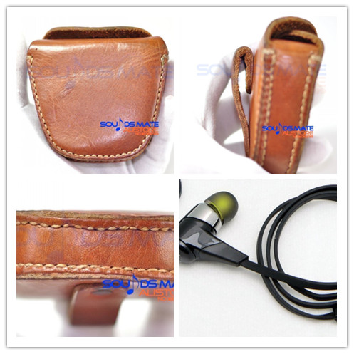 Hard Outdoor Carrying Case Box Bag For JayBird BlueBuds X X2 Sport In Ear Headphone Earbud Natural Genuine Leather Handmade(China (Mainland))