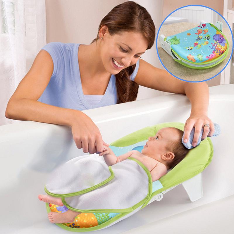 Designed Specifically for The Newborn Baby Bath Tub Bath Net with Foldable Bed Bath Towel BTRQ0455(China (Mainland))