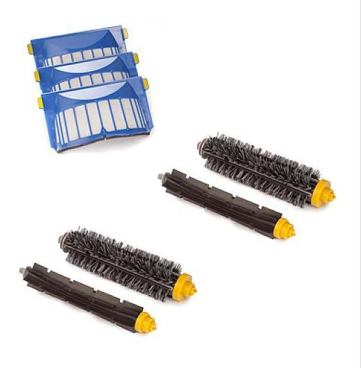 Aerovac Filter +Bristle and Flexible Beater Brush for iRobot Roomba 600 610 620 630 650 660 680 Vacuum Cleaner Accessories.(China (Mainland))