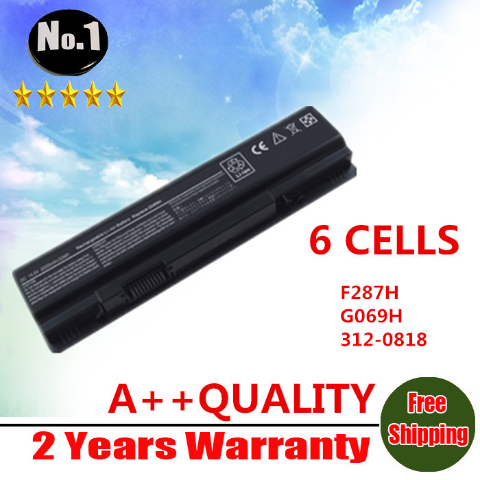 WHOLESALE New 6CELLS Laptop Battery For Dell Vostro A840 A860 A860N 1014 1015 Series F287H G069H F286H F287F R988H free shipping(China (Mainland))