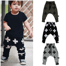 2016 New Kids Boys Long Pants Girl Boy Harem Pants Children Casual Style Unisex Baby Mid Waist Pants For 1-3 Years Old BZ981068(China (Mainland))