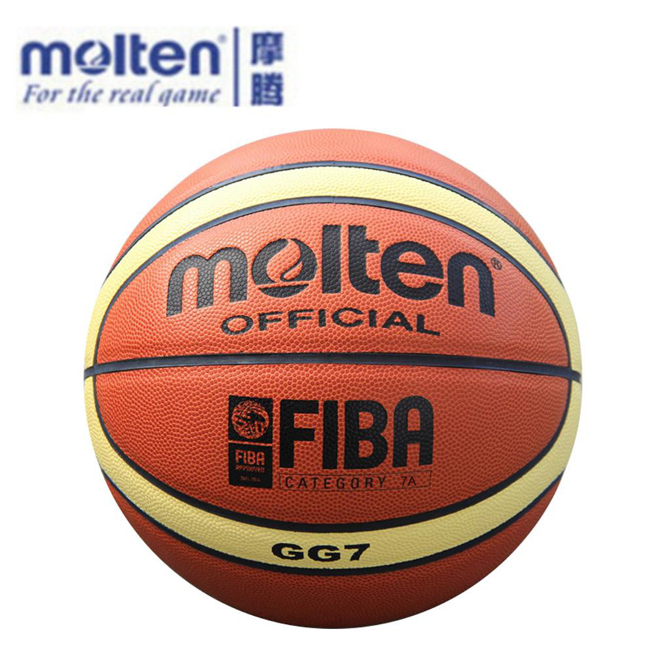 Official Size7 Molten GG7 PU Indoor Outdoor Leather Basket Basketball Ball Training equipment With Gift Of Ball Pump+Net Nag+Pin(China (Mainland))