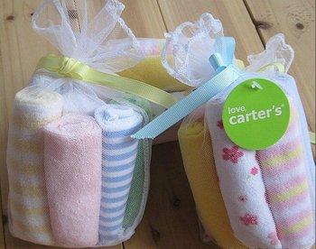 wholesale free shipping 8pcs/set Carter baby's towels/baby bibs/infantfeeding towel santa feeding towels