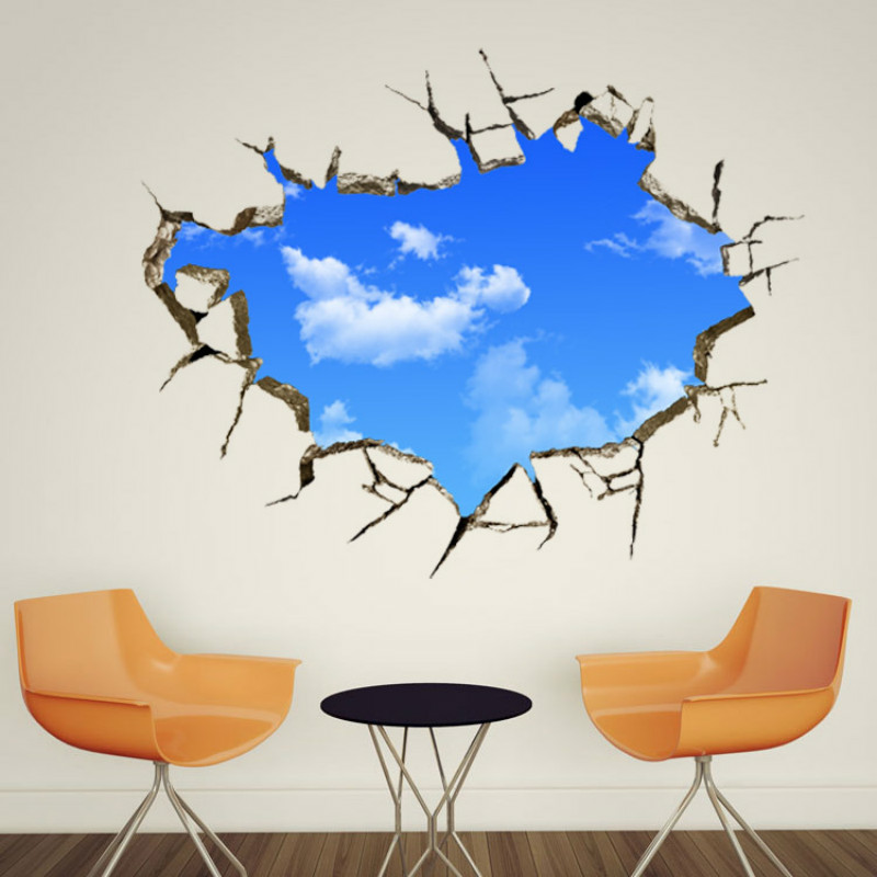 3d ceiling sky and clouds wallstickers for kids living room
