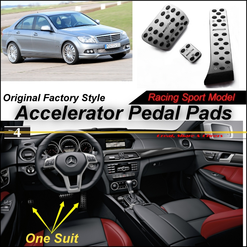 Car Accelerator Pedal Pad / Cover Factory Sport Racing Design Mercedes Benz C Class MB W204 AT Foot Throttle