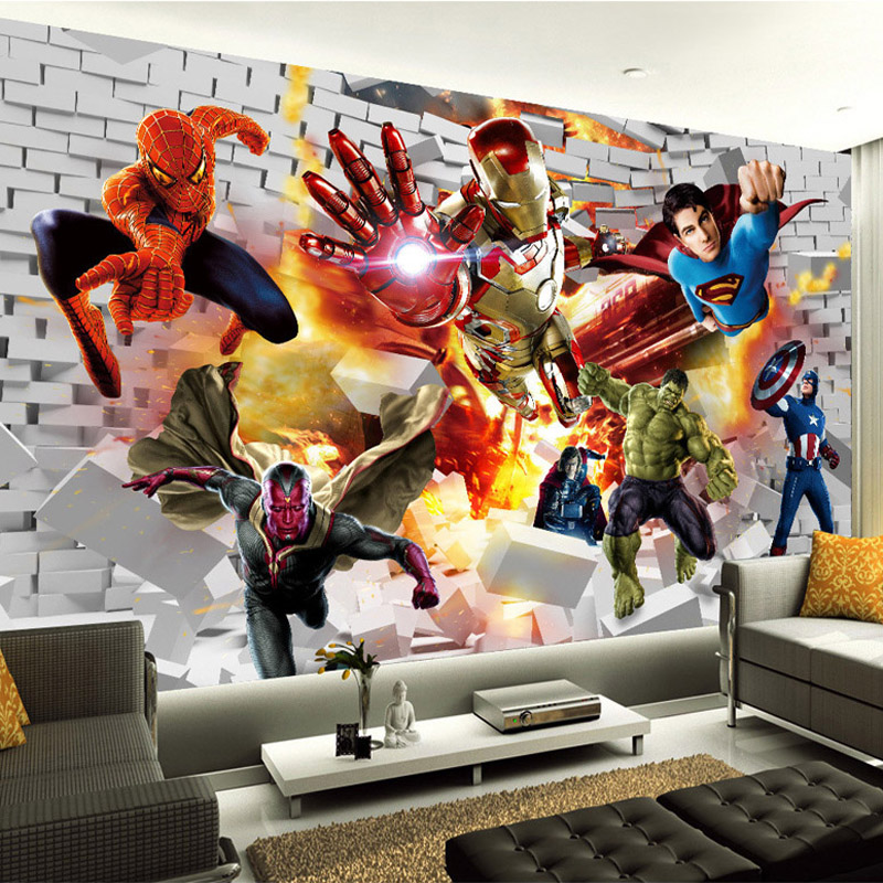 avengers wallpaper 3d photo wallpaper hulk iron man the avengers wall mural iron man amp hulk custom large photo