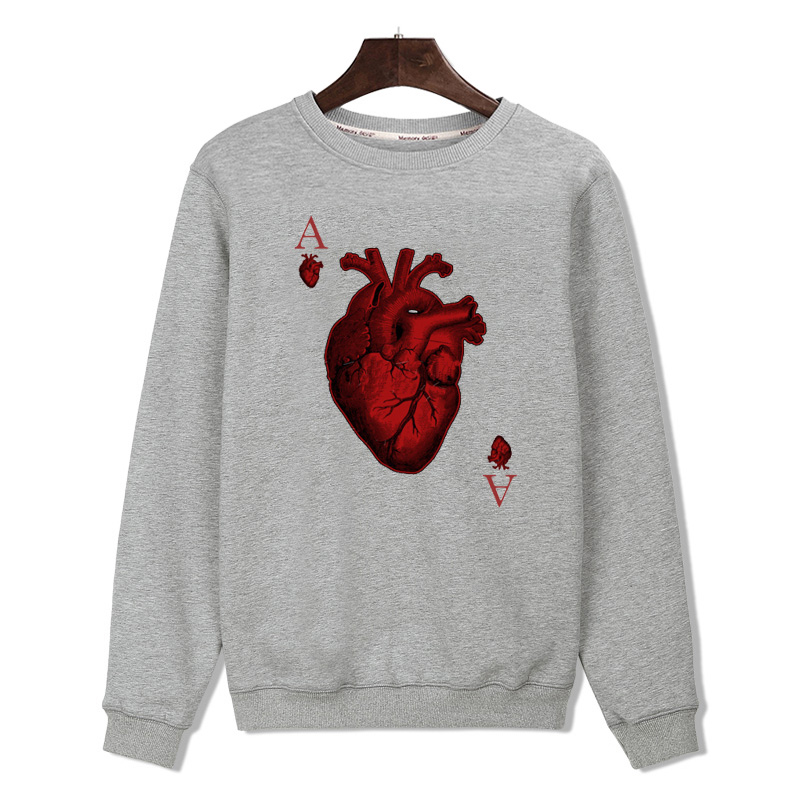 Hot Sale New Heart Black/White Mens Hoodies and Sweatshirts Brand Harajuku Sweatshirt Autumn Winter Hip Hop 3xl xxs(China (Mainland))