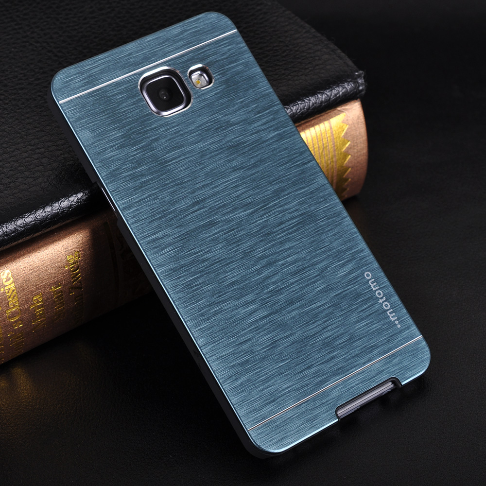 For Samsung A3/A5/A7/A9 Luxury Motomo Brushed Metal Case For Samsung Galaxy A5 2016 A710 A310 Cover Aluminium + PC Phone Cases(China (Mainland))