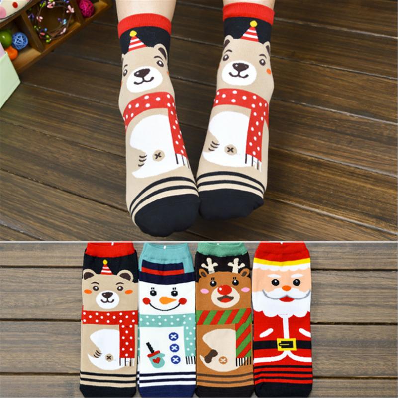 2016 New Winter Warm Thick Cute 3D Animals Cartoon Style Christmas Lady And Women Cotton Sock Christmas Socks(China (Mainland))
