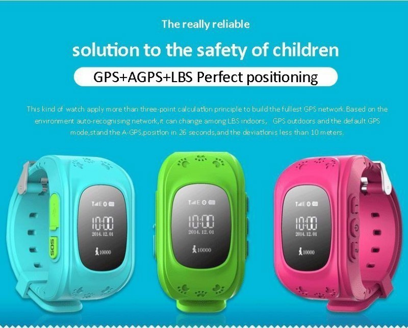 Children Monitor Kid SIM Tracking Device GPS Tracker Q50 Finder Anti-lost Safe SOS Call Location Finder Communication Telephone