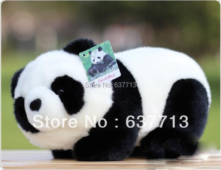 1pcs 16CM/6.3inch Soft plush toy gift doll pandaway giant panda doll tendrils retail(China (Mainland))