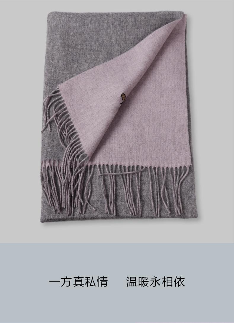 Tassels 100%Wool Solid Women Winter Scarves Luxury Brand pashmina 70x180cm Long Shawls Thickened Warm Simple Echarpe S7