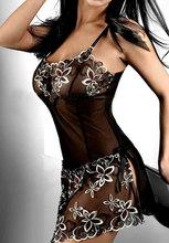 Essential embroidery Erotic Sexy Lingerie lady print perspective lure pajamas women underwear nightwear lenceria sizeM 4XL