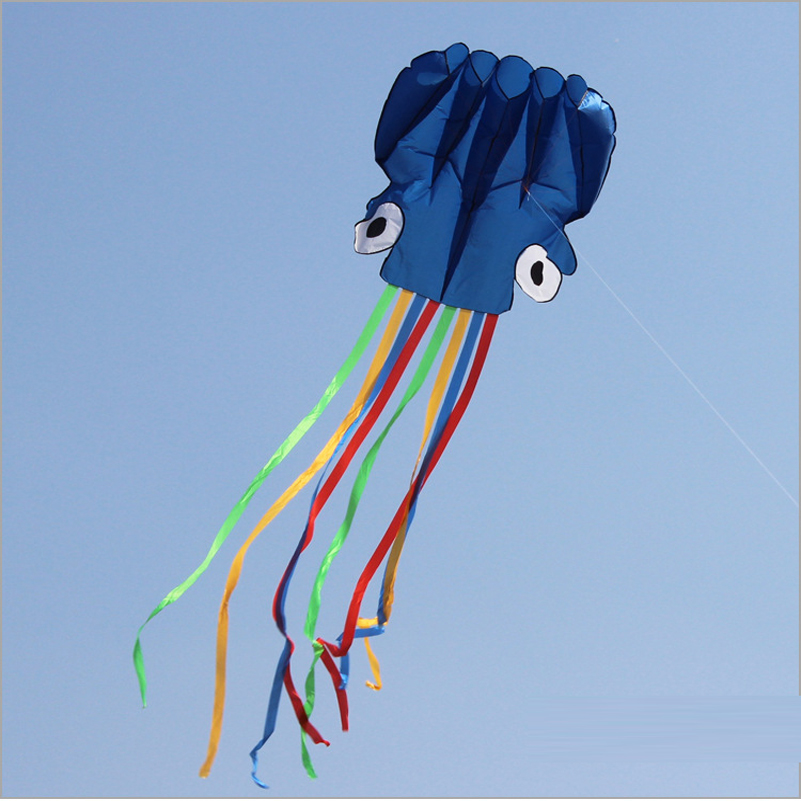 Software Octopus Kite Easy Portable 3D Nylon Flying Kites Octopus Colorful Vlieger Aquilone Travel Waterproof Toy For Children(China (Mainland))