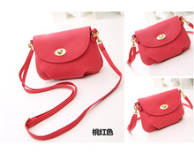 2015 new Style best sale Exports mini candy color women shoulder bags messenger bag Women leather