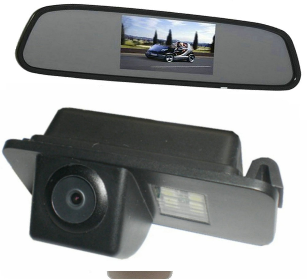 CCD Car Rear View Reverse Parking Camera + view Mirror Monitor FORD MONDEO/FIESTA/FOCUS HATCHBACK/S-Max/KUGA - Sunroad electronic factory store
