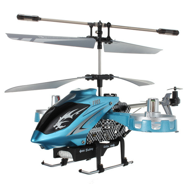New Version Avatar F103 4CH IR 2.4Ghz Remote Control Mini Metal Gyro RTF 4 Channel RC Helicopter LED Gyro Blue Toy