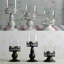 2016 Candles Good Quality Classical European Style Hollow Iron Candle Holder Wedding Party Home Decoration Glass Holders Gift(China (Mainland))