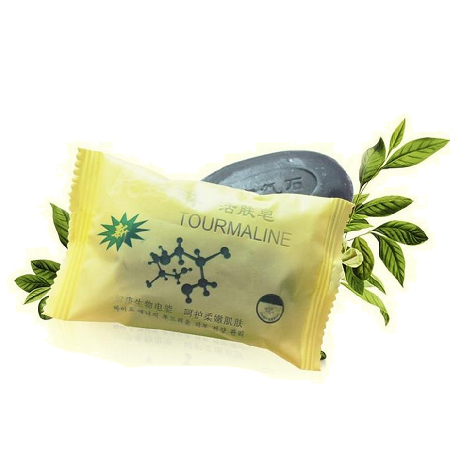 New Tourmaline Soap Bamboo Active Energy Soap Charcoal Concentrated Soap For Ance Face & Body Beauty Healthy Care Soap 50g