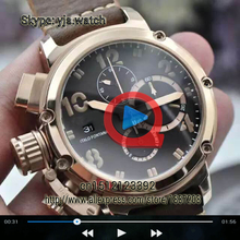 Watch Video U-51 U51 Chimera Bronze Aged Chronometer Diver UB Limited Edition Chronograph Mens Watch Watches Leather strap