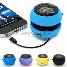 2016 Mini Portable Hamburger Speaker Amplifier For iPod for iPad Laptop for iPhone Tablet PC 6 Colors for Choice Speakers