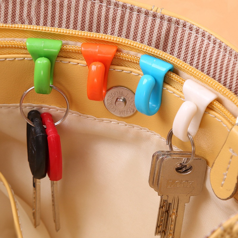 6 pcs 2016 New Design Bag Hooks Creative Bag Hanger Key Holder Portable Key Clip for Bag Easily Find Keys in Bag Key Hooks P005(China (Mainland))