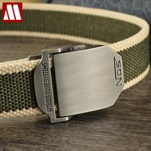 New 2016 Fashion Mens Canvas Belt Buckle Metal Tactical Belt Men Strap Belts Male Leather Canvas Belts Free Shipping C414-7(China (Mainland))