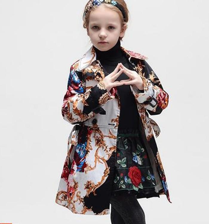 Retail 1pcs high grade big flower children girls coat, fashion autumn Kids Jackets<br><br>Aliexpress