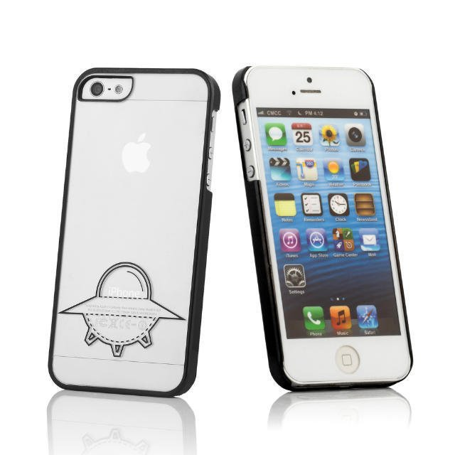 Free Shipping Ufo Case For Iphone5 5S Crystal Phone Case New Plating Laser Carving Case Cover Hard Case(China (Mainland))