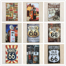 Buy OnnPnnQ Retro Sign 8X12 Inch American Style Route 66 Paint Wall Decoration Vintage Metal Tin Sign Painting Wall Decor Art Poster for $7.50 in AliExpress store
