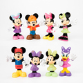 8pcs set Disny Mickey Mouse Clubhouse Mickey Minnie Donald Duck Pluto Dog Cartoon Action Figure Kids