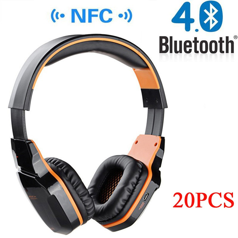 20PCS NFC Wireless Bluetooth Stereo Gaming Headphones Gaming Headset with Microphone for iPhone 6 Samsung Xiaomi PC<br><br>Aliexpress