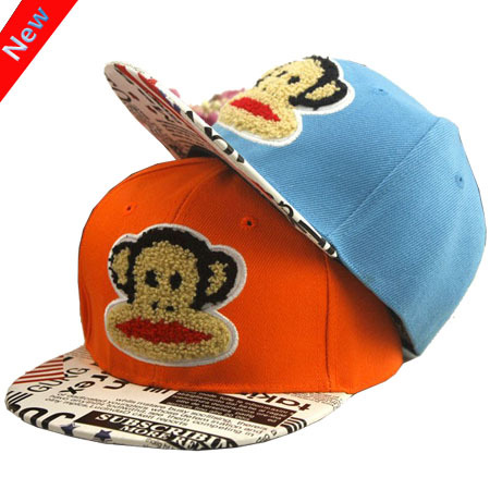 2015 Trend Child Lovely Monkey Cartoon Hip Hop Fashion Baseball Cap Cute Boys And Girls Snapback Flat Hats For KidsОдежда и ак�е��уары<br><br><br>Aliexpress