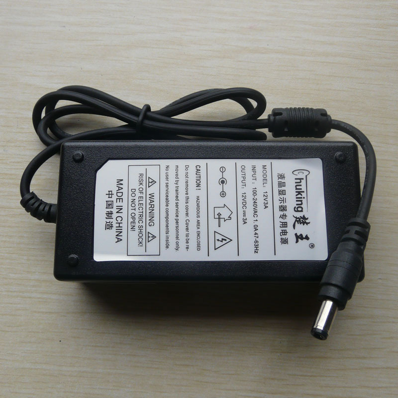 10pcs Original 12v 3a 5.5*2.5 lcd monitor ac adapter(China (Mainland))