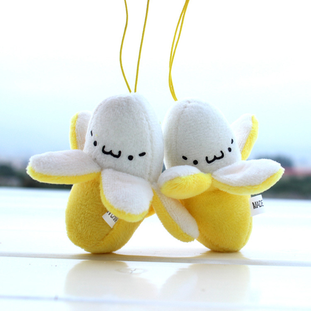 Cute Cell Phone Strap Charm Mobile Phone Skinned banana Plush Doll Phone Strap Pendant Cellphone Decoration Accessories(China (Mainland))