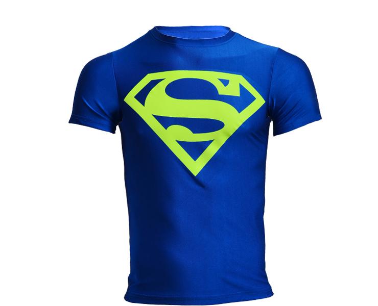 shirt superman/batman/gym/run/train t shirt fit tight shirts ...