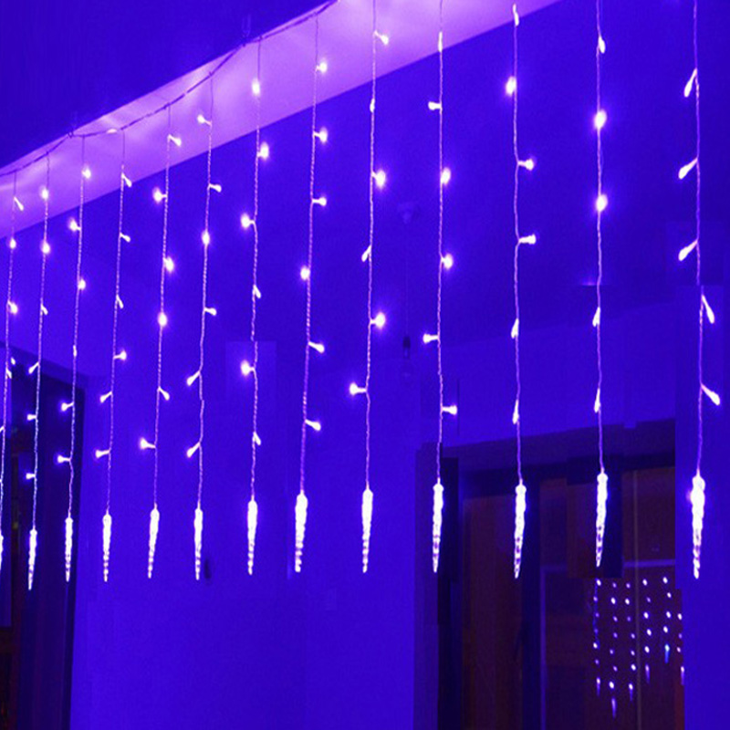 Christmas Lights Outdoor Decoration 2*0.6M Colorful Icicle LED Curtain String Light 220V For New Year Garden Xmas Party Garlands(China (Mainland))
