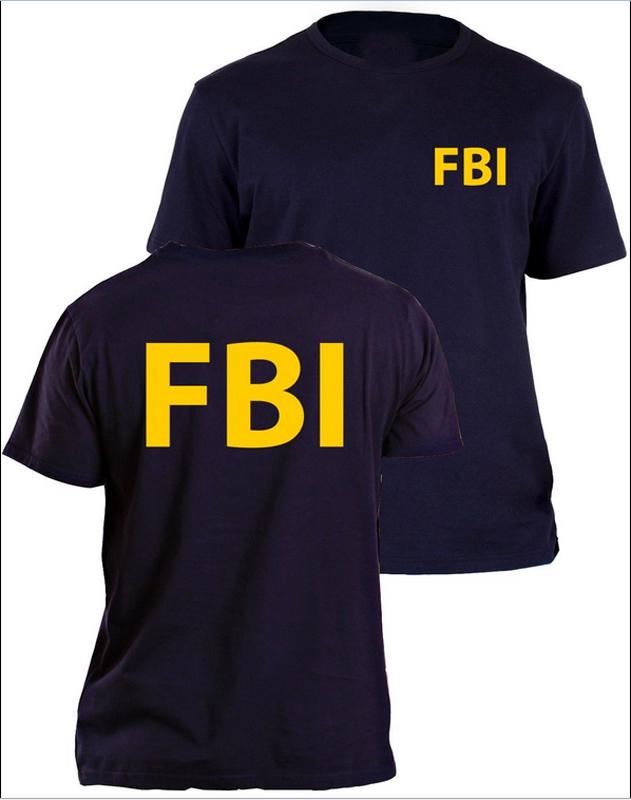 fbi t shirt agent secret service police cia staff men front and back print summer top tee shirt. Black Bedroom Furniture Sets. Home Design Ideas