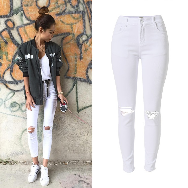 Popular White Jeans Ladies-Buy Cheap White Jeans Ladies lots from
