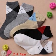 2-12 Years Spring Children Cotton Socks For Baby Boy Socks Diamond Lattice Autumn Kid In Tube Sock High Quality 5pairs/lot(China (Mainland))