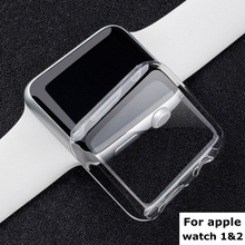 New! clear crystal ultra thin hard plastic case transparent screen protective PC cover for Apple watch series 1 2 38mm 42mm(China (Mainland))