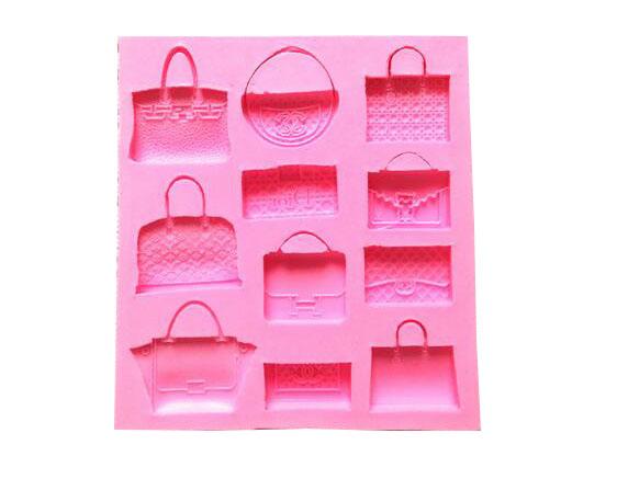 Designer bags Fondant Cake Decorating DIY handmade soap mold silicone mold chocolate mold Baking Pastry Kitchen Tool Cake(China (Mainland))